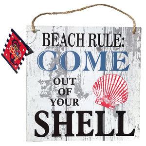 ♛5/$25♛NWT Hanging Beach Sign Sea Shell Home Decor